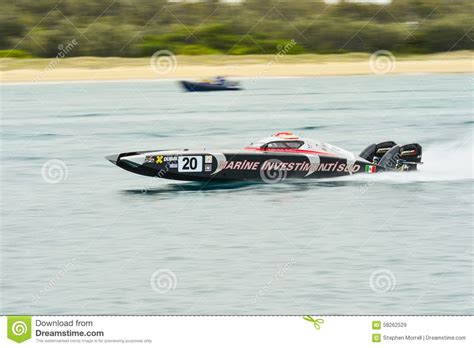 fastest production speed boat x cat speed boat editorial stock image image 58262529