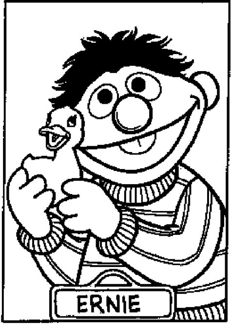 ernie coloring pages coloring home