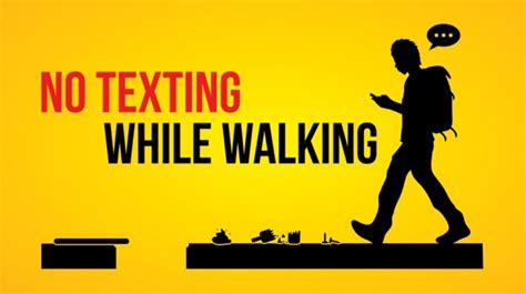 The Dangers Of Distracted Walking by Texting While Walking Www Imgkid The Image