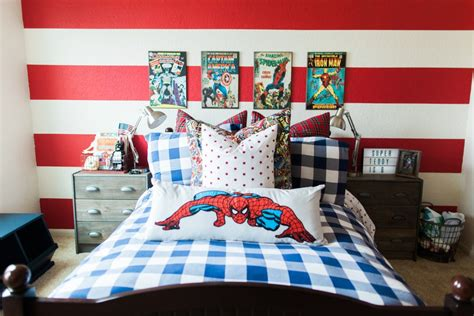 super hero bedroom home tour tuesday teddy s superhero bedroom fancy ashley