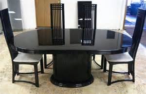 71 modern 7 pc dining set black lacquer table is 41