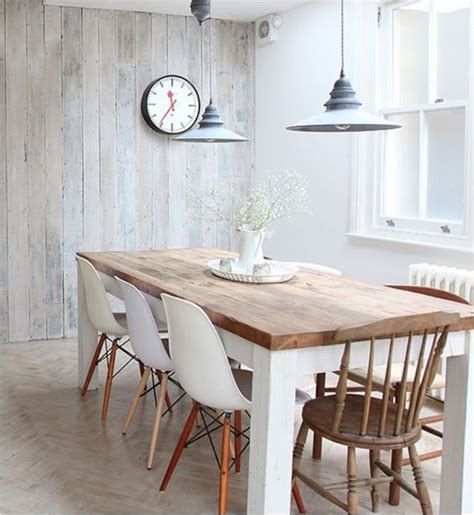 Cherry Dining Room Table And Chairs by Style Mix Wood Tables White Chairs Centsational Style