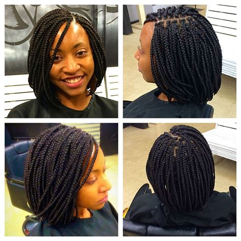 box brais in a bob style haircut box braids bob life https instagram com