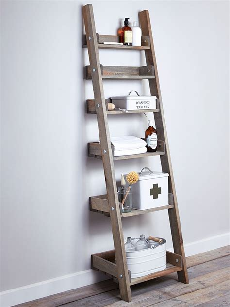 bathroom ladder shelves 25 best ideas about ladder shelves on leaning