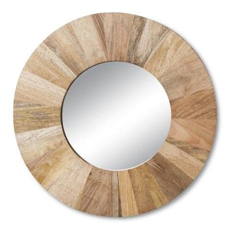 target round mirror threshold wooden circle wall mirror target homestuffs