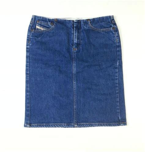 womens diesel denim pencil skirt size 26 designer lawine