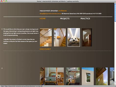 architectural design websites maccormick simoninan architects all sorts websites