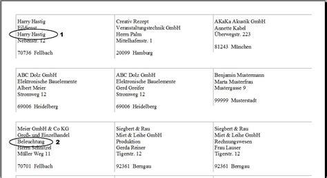 Adressaufkleber Kostenlos Drucken by Datei Reflex Stammdaten Kontake Adressetiketten Drucken