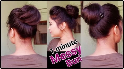everyday indian hairstyles for medium hair 1 min messy bun with bunstick everyday hairstyles for