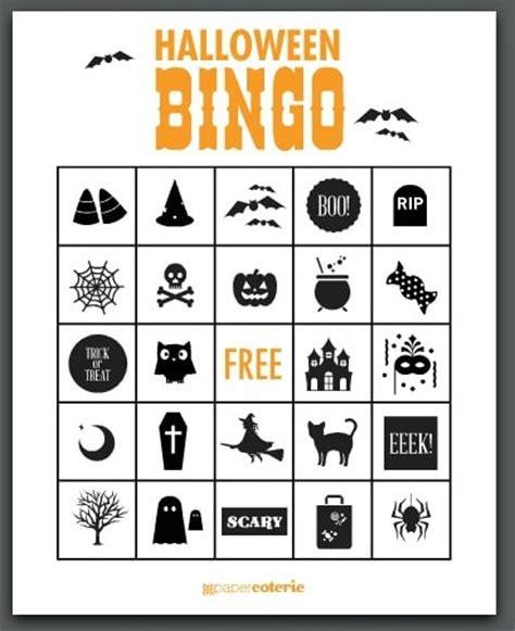 printable halloween bingo cards with pictures free halloween printables