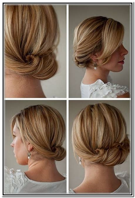 easy updos for medium length mid length easy hairstyles