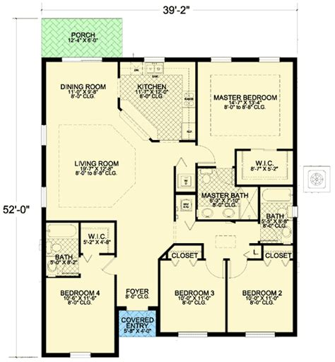 Small 4 Bedroom House Plans | architectural designs