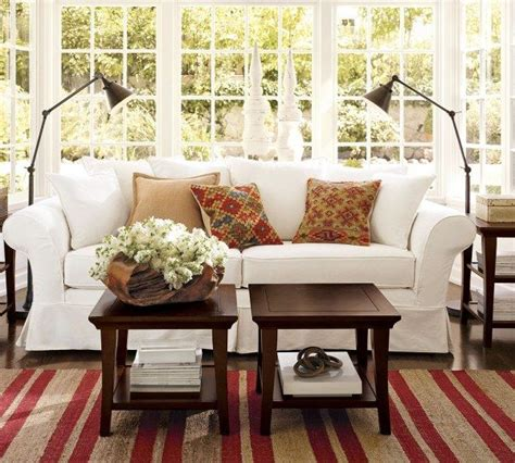 pottery barn livingroom sofas and living rooms ideas with a vintage touch from pottery barn freshome