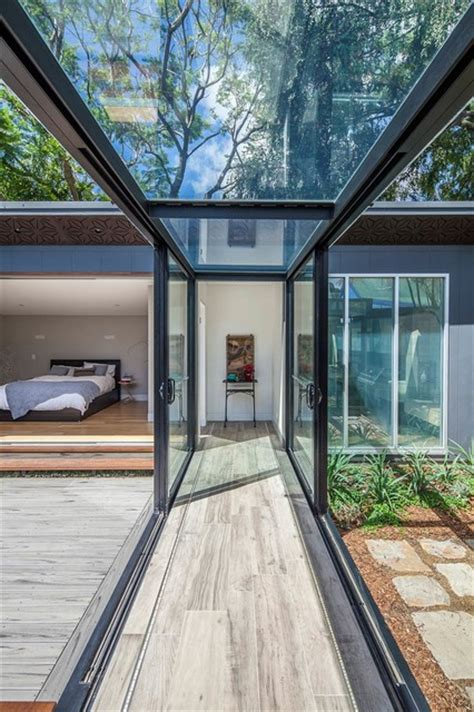 Garage Designs Australia balmain residence glass walkway modern hall sydney