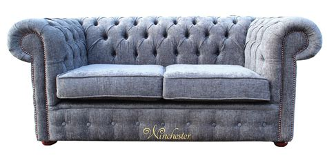 Fabric Chesterfield Sofa Bed Chesterfield 2 Seater Settee Sofa Bed Flamenco Crush Slate Fabric