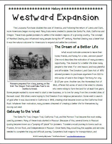 Westward Expansion Essay Topics by 22 Best Images About Social Studies Pioneers Westward Expansion On Student