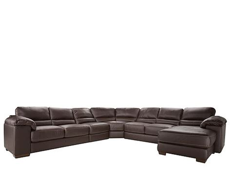 cindy crawford leather sofa cindy crawford maglie 5 pc leather sectional sofa dark