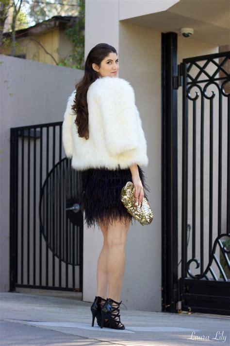 wearing on new year new year s the feathered skirt