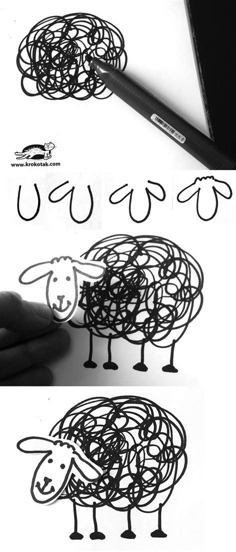 krokotak | How to draw black sheep