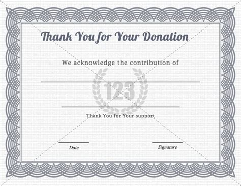donation certificate templates donation certificate template template design