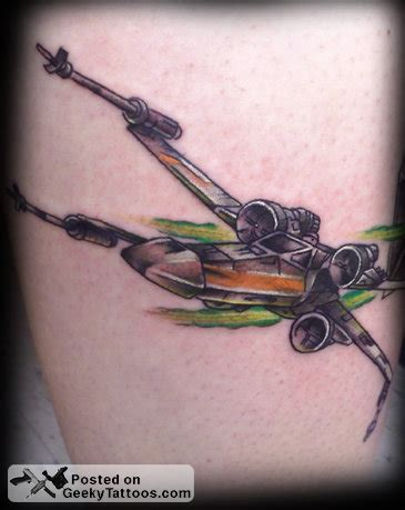 x wing tattoo x wing tie fighter geeky tattoos