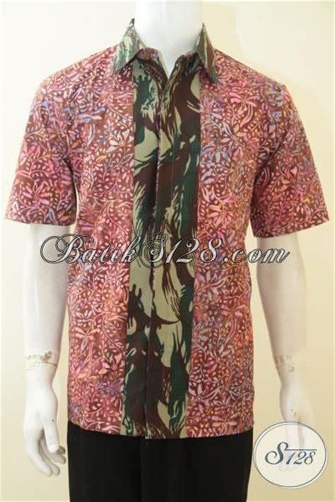 Batik Army baju kemeja batik cap smoke motif unik kombinasi doreng