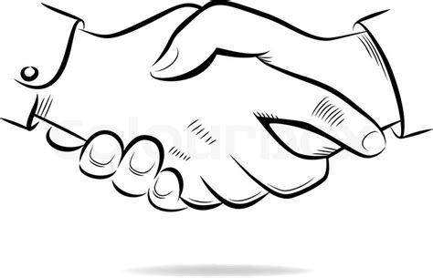 coloring page shaking hands shaking hands drawing sketch coloring page