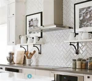 Kitchen Backsplash Subway Tile Patterns Kitchen Backsplash White Beveled Subway Tile Us Ceramics 3x6 Subway Tiles In Herringbone