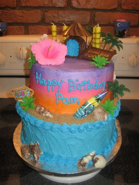 Decorated Birthday Cakes At Walmart by 17 Best Images About Cakes On Luau Decorations