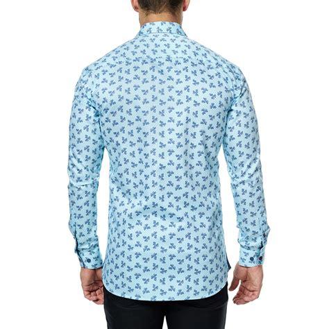 light blue button up shirt paisley trio long sleeve button up shirt light blue s