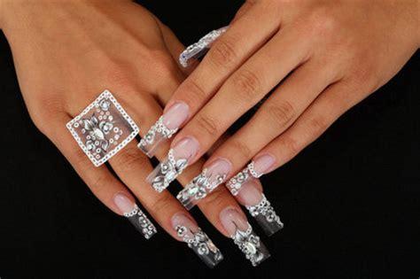 imagenes de uñas acrilicas con tip cristal imagenes de u 241 as acrilicas para novia ideales im 225 genes