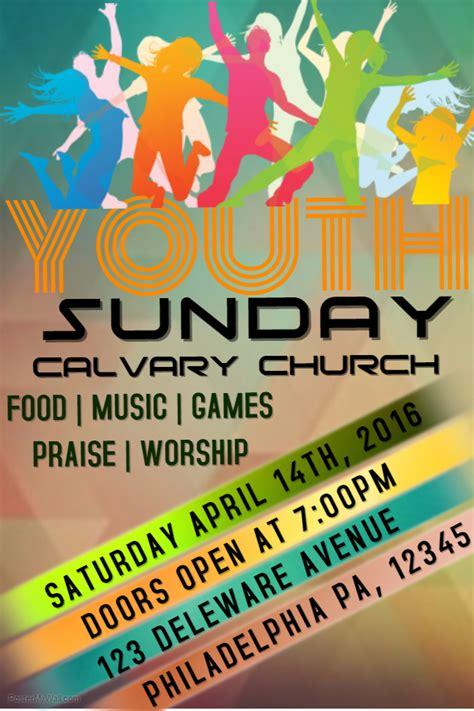 free flyer templates for church events youth sunday church flyer template event templates with