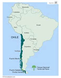 chile location on world map torres paine national park travel tours to patagonia chile tour australis cruise voyagers