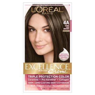 l oreal excellence creme permanent hair color ash 7 1 1 74 oz walmart l oreal 4a cooler ash brown hair color hair care hair coloring