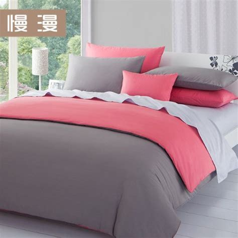 queen pink gray comforter set