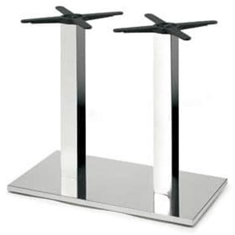 doppel sockel esszimmer tische tischgestell sockel und 2 spalten in stahl idfdesign