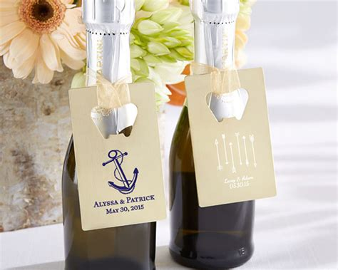 Wedding Favors Unlimited Reviews by Personalized Wedding Design Gold Credit Card Bottle Opener