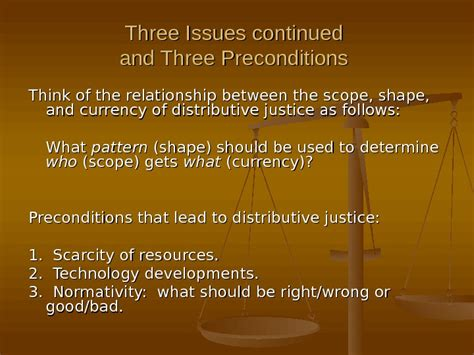 pattern theory of justice theories of distributive justice three issues 1