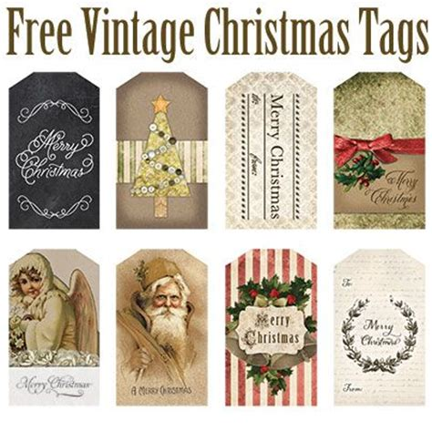 vintage christmas gift tags printable free free printable vintage christmas tags etiquetas tags
