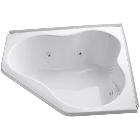 5 foot whirlpool bathtub kohler 4 5 ft whirlpool tub in white with heater k 1154