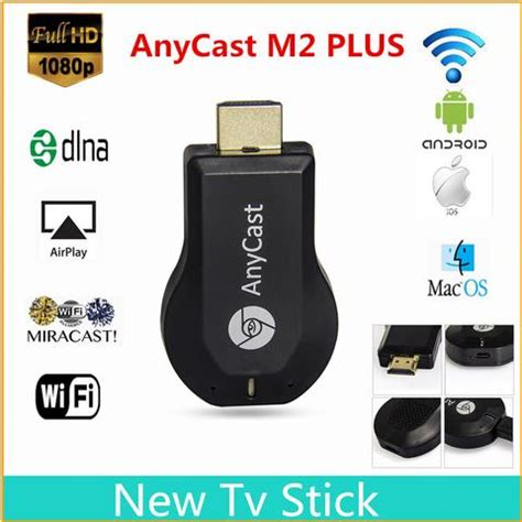 Anycast Miracast Hdmi Dongle Mirroring Wifi Display Smart Projector 12 Monopod Selfie Stick 1m For Cellphone Apple Iphone