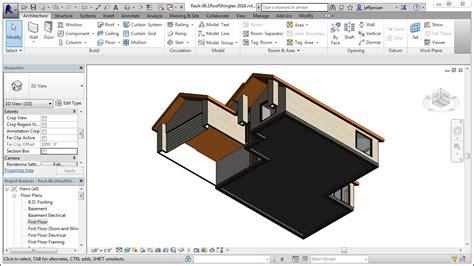 revit tutorial residential jensen s revit tutorial residential house 07 1 floors