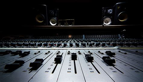 recording studio mixing desk photo