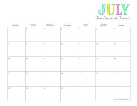 Baby Calendar 2014 Printable July 2014 Calendars