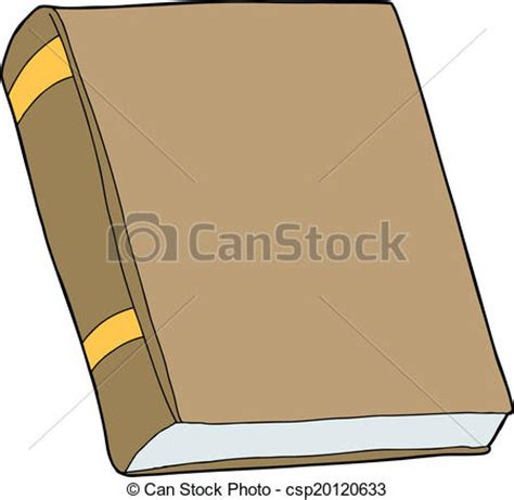 libro not a stick generic closed book generic brown book with blank cover on isolated background