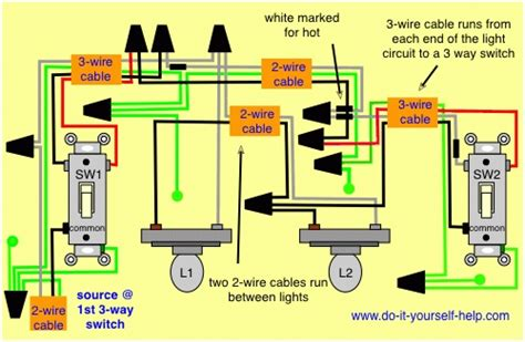 3 way switch wiring diagram lights fuse box and