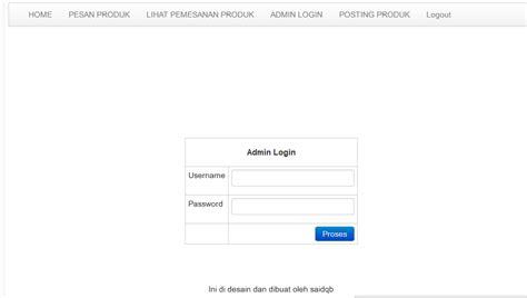 membuat form login admin dengan php membuat web jual beli dengan php dilengkapi dengan admin