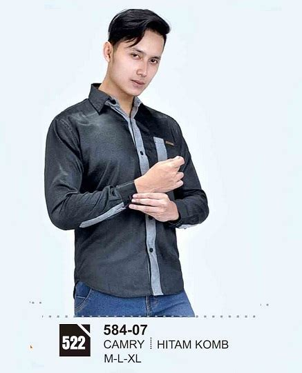 Kemeja Pria Yon 5198 baju kemeja pria model terbaru fashion distro