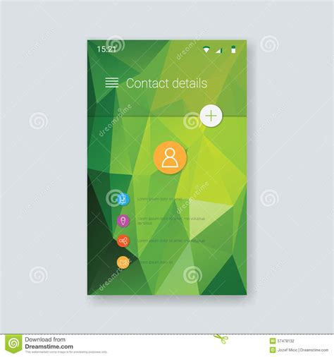 graphic design layout app for ipad mobile app graphic user interface low poly stock vector