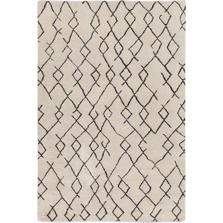 10 X 12 Black And White Geometric Rug 8 x 10 black and white geometric pattern rectangular